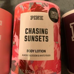 Pink chasing sunsets lotion